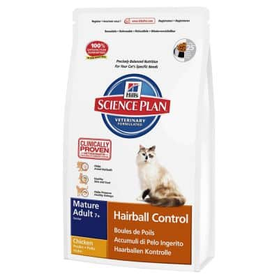 Hill's Feline Hairball Control Adult 7+ pour chat